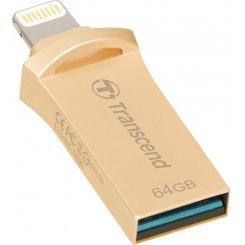Фото Накопитель Transcend JetDrive Go 500 64GB Gold USB 3.1/Lightning (TS64GJDG500G)
