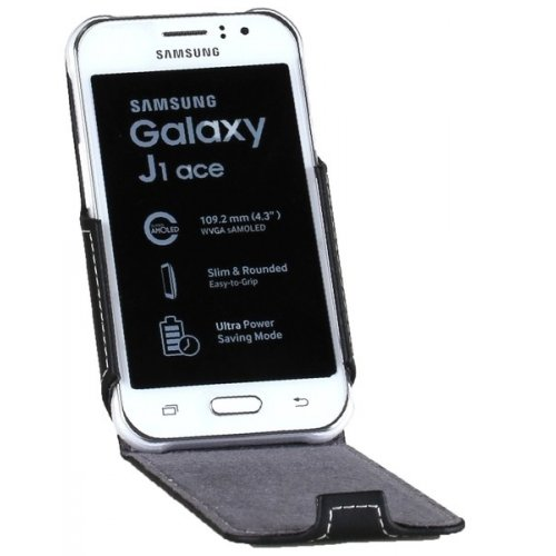 Фото Чехол Чехол RED POINT Flip для Samsung Galaxy J1 Ace Black