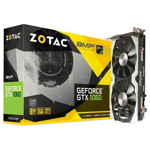 Фото Видеокарта Zotac GeForce GTX 1060 AMP! Edition 6144MB (ZT-P10600B-10M)