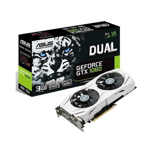 Фото Видеокарта Asus GeForce GTX 1060 Dual 3072MB (DUAL-GTX1060-3G)