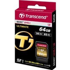 Фото Карта памяти Transcend 64GB SDXC C10 UHS-I U3 R95/W85MB/s 4K (TS64GSDU3X)
