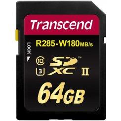 Фото Карта памяти Transcend 64GB SDXC C10 UHS-II U3 R285/W180MB/s 4K (TS64GSD2U3)