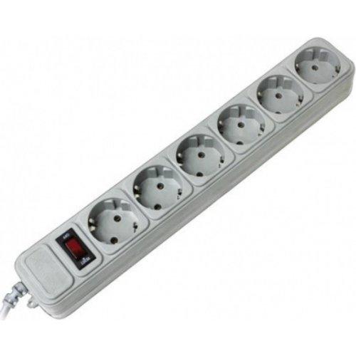 Фото Сетевой фильтр Surge Protector 1,8м 6 розеток (SP6-G-6G) Gray