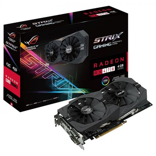 Фото Видеокарта Asus ROG Radeon RX 470 STRIX 4096MB (STRIX-RX470-4G-GAMING)