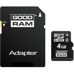Фото Карта памяти GoodRAM microSDHC 4GB Class 4 (с адаптером) (M40A-0040R11)