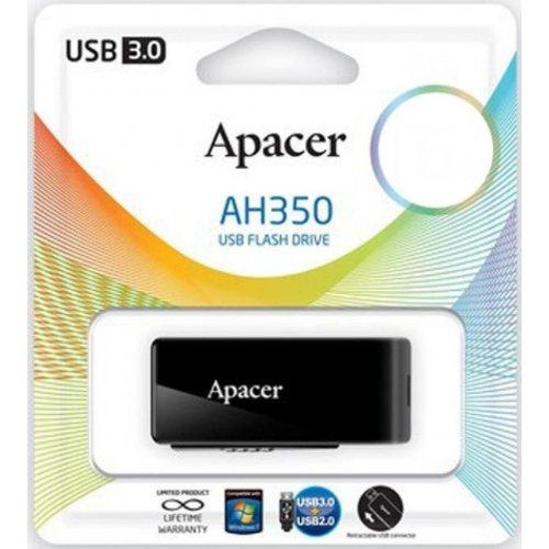 Фото Накопитель Apacer AH350 USB 3.0 64Gb Black (AP64GAH350B-1)