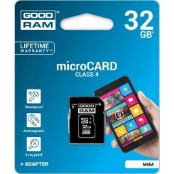 Фото Карта памяти GoodRAM MicroSDHC 32GB 4 Class (с адаптером) (M40A-0320R11)