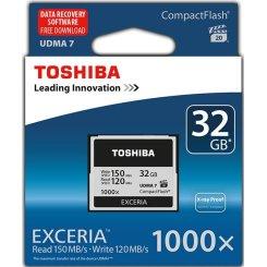 Фото Карта памяти Toshiba Exceria CF UDMA 7 32GB 1000x (CF-032GTGI(8))