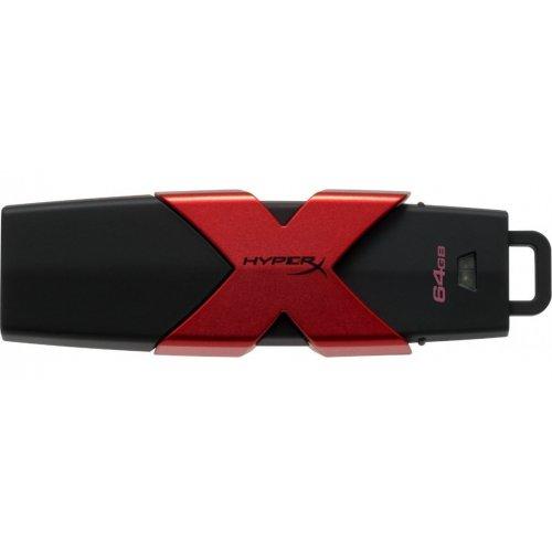 Фото Накопитель HyperX Savage 64GB USB 3.1 Black Red (HXS3/64GB)
