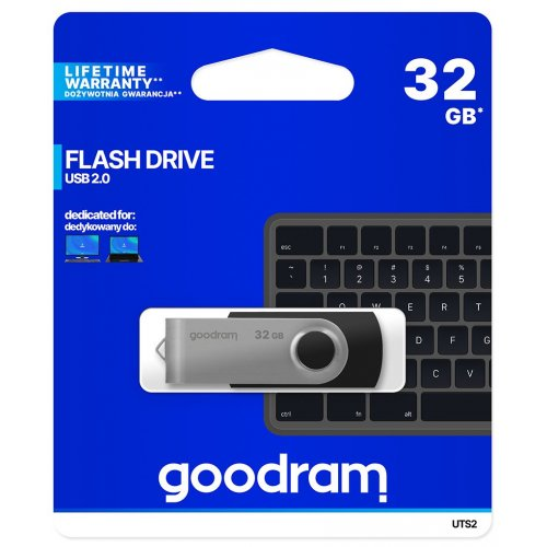 Фото Накопитель GoodRAM Twister UTS2 32GB USB 2.0 Black (UTS2-0320K0R11)