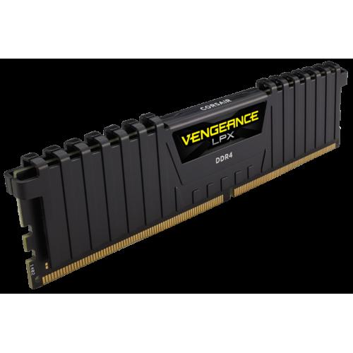 Фото ОЗУ Corsair DDR4 32GB (2x16GB) 2666Mhz Vengeance LPX (CMK32GX4M2A2666C16) Black