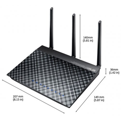Фото Wi-Fi роутер Asus DSL-N16U