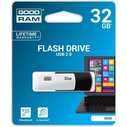 Фото Накопитель GoodRAM Colour Mix 32GB USB 2.0 Black/White (UCO2-0320KWR11)