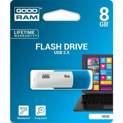Фото Накопитель GoodRAM Colour Mix 8GB USB 2.0 Blue/White (UCO2-0080MXR11)