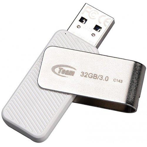 Фото Накопитель Team C143 32GB USB 3.0 White (TC143332GW01)