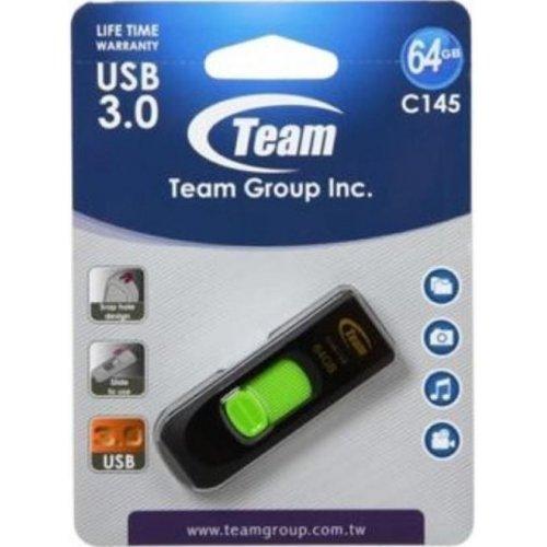 Фото Накопитель Team C145 64GB USB 3.0 Green (TC145364GG01)