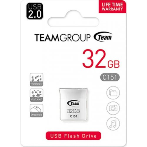 Фото Накопитель Team C151 32GB USB 2.0 White (TC15132GB01)