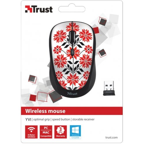 Фото Мышка Trust Yvi Wireless (20285) Ukrainian Style Snow