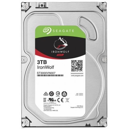 Фото Жесткий диск Seagate IronWolf (NAS) 3TB 64MB 5900RPM 3.5'' (ST3000VN007)