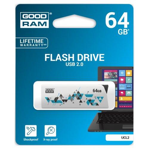 Фото Накопитель GoodRAM Click 64GB USB 2.0 White (UCL2-0640W0R11)