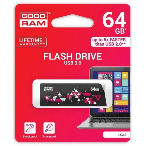 Фото Накопитель GoodRAM Click 64GB USB 3.0 Black (UCL3-0640K0R11)