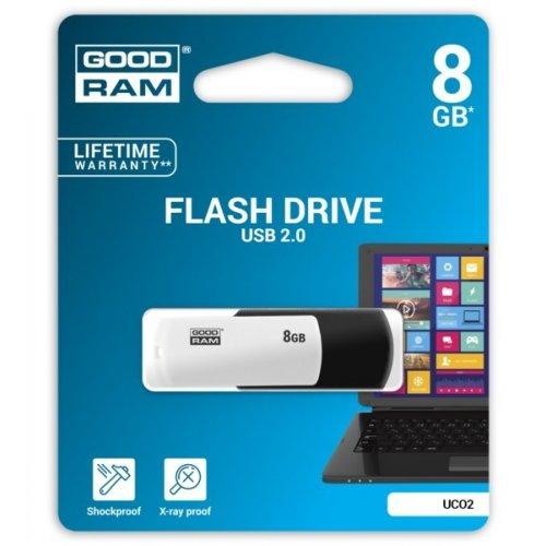 Фото Накопитель GoodRAM Colour Mix 8GB USB 2.0 Black/White (UCO2-0080KWR11)