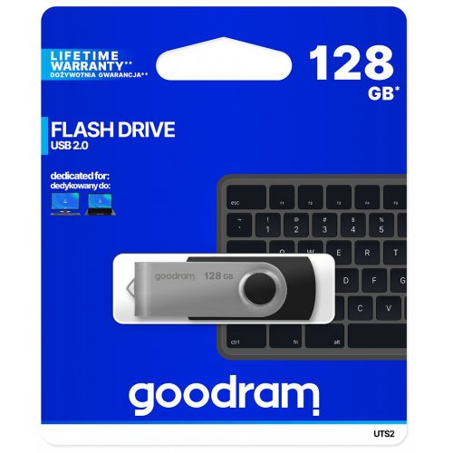 Фото Накопитель GoodRAM Twister 128GB USB 2.0 Black (UTS2-1280K0R11)