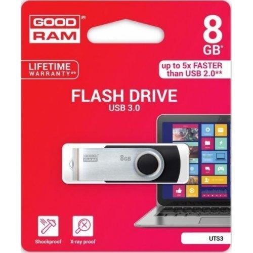 Фото Накопичувач GoodRAM Twister 8GB USB 3.0 Black (UTS3-0080K0R11)