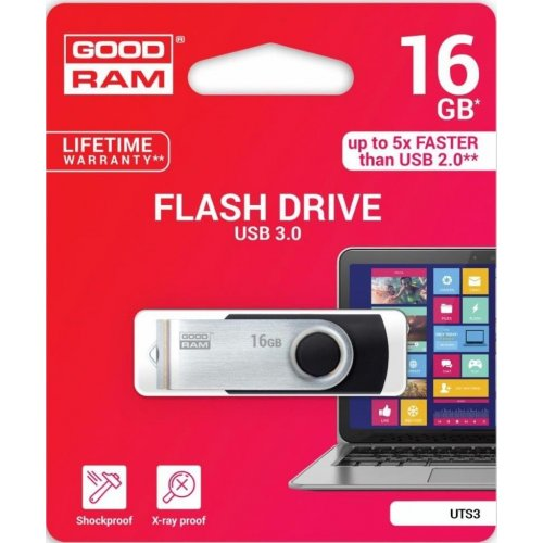 Фото Накопитель GoodRAM Twister 16GB USB 3.0 Black (UTS3-0160K0R11)