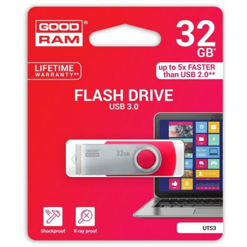 Фото Накопитель GoodRAM Twister 32GB USB 3.0 Red (UTS3-0320R0R11)