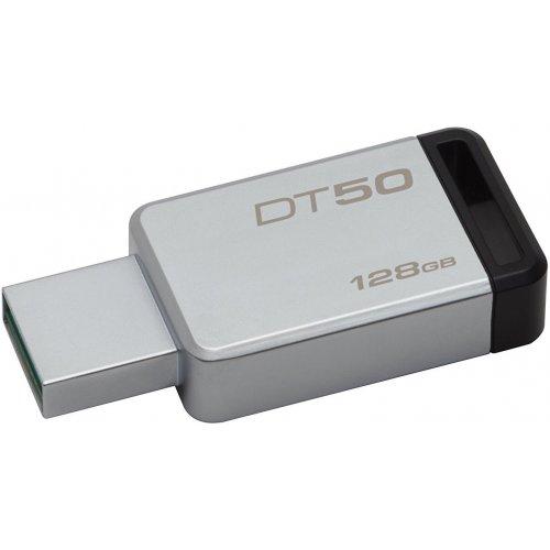 Фото Накопитель Kingston DataTraveler 50 128GB USB 3.0 Silver (DT50/128GB)
