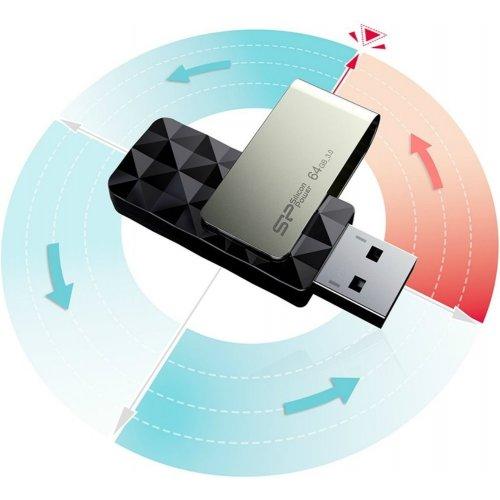 Фото Накопитель Silicon Power Blaze B30 128GB USB 3.1 Black (SP128GBUF3B30V1K)