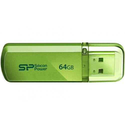 Фото Накопитель Silicon Power Helios 101 64GB USB 2.0 Green (SP064GBUF2101V1N)