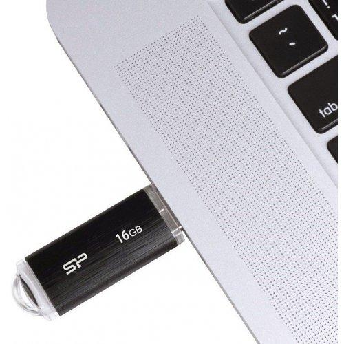 Фото Накопитель Silicon Power Ultima U02 16GB USB 2.0 Black (SP016GBUF2U02V1K)