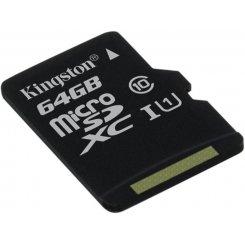 Фото Карта памяти Kingston microSDXC 64GB Class 10 UHS-I (без адаптера) (SDC10G2/64GBSP)