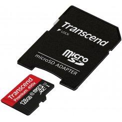 Фото Карта памяти Transcend microSDXC 128GB Class10 UHS-1 (с адаптером) (TS128GUSDU1)