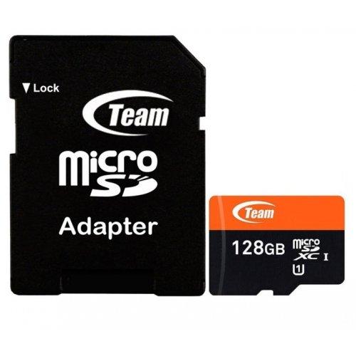 Фото Карта памяти Team microSDXC 128GB Class 10 UHS-I (с адаптером) (TUSDX128GUHS03)