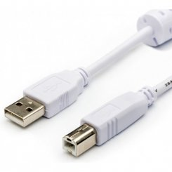 Фото Кабель ATcom USB 2.0 AM-BM 0,8m с ферритом (6152) White