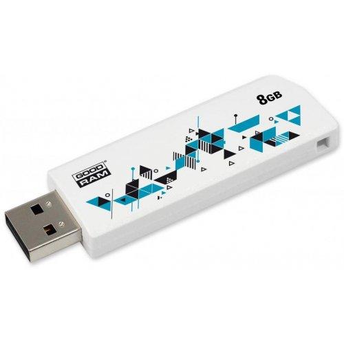 Фото Накопитель GoodRAM Click 8GB USB 2.0 White (UCL2-0080W0R11)