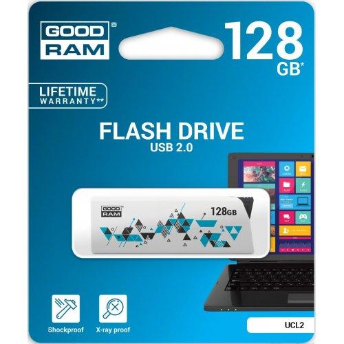 Фото Накопитель GoodRAM Click 128GB USB 2.0 White (UCL2-1280W0R11)
