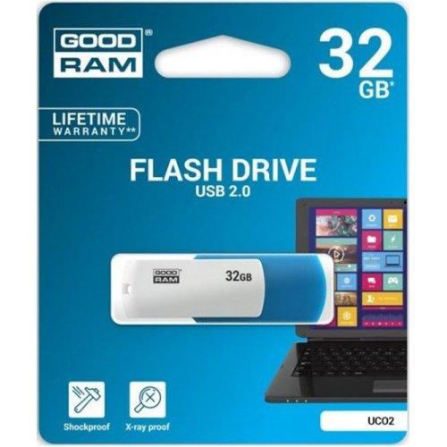 Фото Накопитель GoodRAM Colour Mix 32GB USB 2.0 Blue/White (UCO2-0320MXR11)