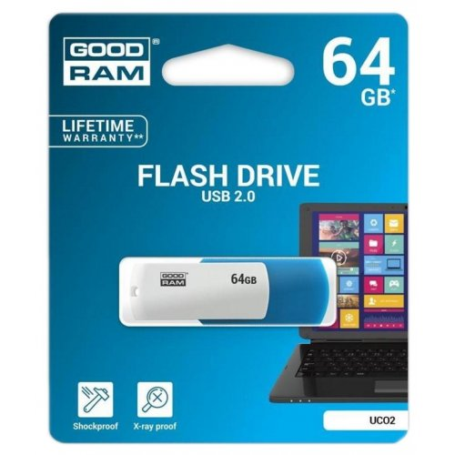 Фото Накопитель GoodRAM Colour Mix 64GB USB 2.0 Blue/White (UCO2-0640MXR11)