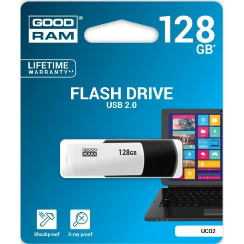 Фото Накопитель GoodRAM Colour Mix 128GB USB 2.0 Black/White (UCO2-1280KWR11)