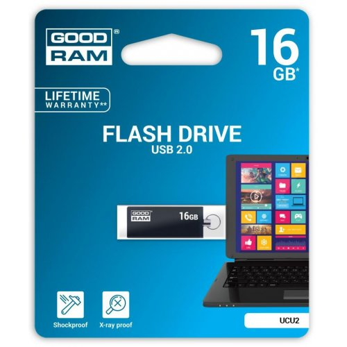 Фото Накопитель GoodRAM CUBE 16GB USB 2.0 Black (UCU2-0160K0R11)