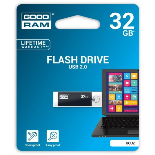 Фото Накопитель GoodRAM CUBE 32GB USB 2.0 Black (UCU2-0320K0R11)
