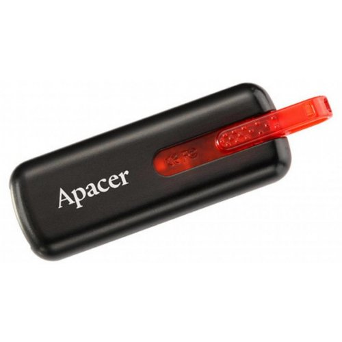 Фото Накопитель Apacer AH326 16GB USB 2.0 Black/Red (AP16GAH326B-1)