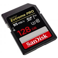 Фото Карта памяти SanDisk SDXC Extreme Pro 128GB V30 UHS-I U3 4K (SDSDXXG-128G-GN4IN)