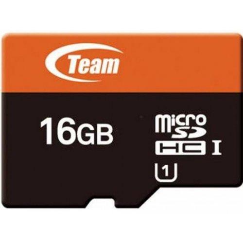 Фото Карта памяти Team microSDHC 16GB Class 10 UHS-I (с адаптером и USB-ридером) (TUSDH16GUHS05)