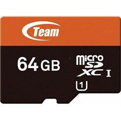 Фото Карта памяти Team microSDXC 64GB Class 10 (с адаптером) (TUSDX64GUHS03)