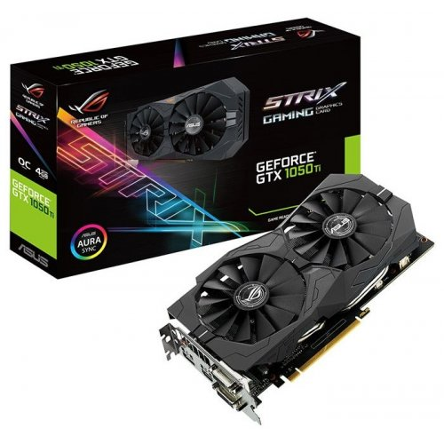 Фото Видеокарта Asus ROG GeForce GTX 1050 Ti STRIX OC 4096MB (STRIX-GTX1050TI-O4G-GAMING)